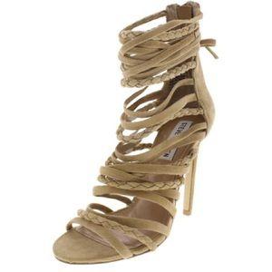 Steve Madden Shoes - Steven Madden Drexel nude gladiator heel Sz US 7.5